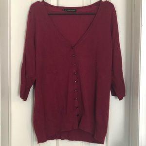 Ladies Vneck Cardigan Size 1